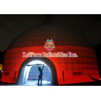Wholesale Led Light Inflatable Party Dome Tent / Water Resistance Inflatable Wedding Tent With Two Door from china suppliers