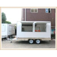 Quality CE approved GRP White Color Street Food Vans Mobile Food Trailer for sale