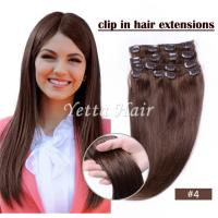 Wholesale Brazilian pre bonded remy human hair extensions / Clipped in Hair Extensions from china suppliers