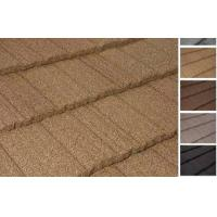 Wholesale Colorful Flat shake Stone Chip Coated Steel / Metal Roof Tiles For hotel from china suppliers