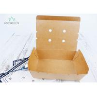 Wholesale Venting Paper Takeaway Boxes With Degassing Holes For Hot Take Out Food from china suppliers
