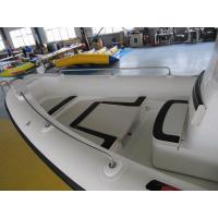 Wholesale Fiberglass + Orca Hypalon Rigid Hull Inflatable Rib Boat with steering system from china suppliers