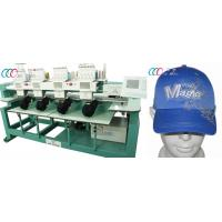 """China 4 Heads 9 Needles Computerized Embroidery Machine For Cap / T-shirt , 5"""" LCD on sale"""