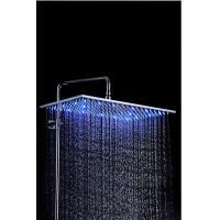 Wholesale 8 Inch Bathroom Rain Showers Heads Modern Overhead With LED Light from china suppliers
