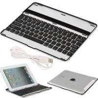 Wholesale Durable iPad 3 Bluetooth Wireless Keyboard Dock Front Case Aluminum alloy + ABS from china suppliers