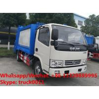Buy cheap 2018S best seller good price dongfeng 5m3 4tons compression garbage truck for sale, garbage compactor truck for sale from wholesalers
