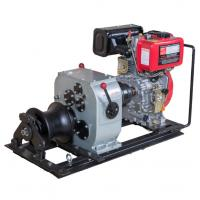 Wholesale Air cooled diesel engine winch 3 ton fast speed cable pulling machine for pulling hoisting lifting from china suppliers