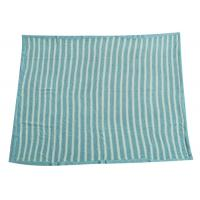 Wholesale Soft Crochet Baby Knitted Blanket Blue Stripe 100% Polyester Material   from china suppliers