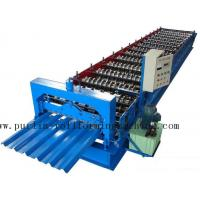 Wholesale PLC Steel Metal Roof Panel Roll Forming Machine , Roofing Sheet Roll Former 5 Ton from china suppliers