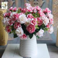 Wholesale UVG wedding flower arrangements silk cheap artificial rose bouquets for table decorations FRS67 from china suppliers