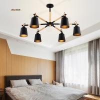 Buy cheap LED chandelier living room restaurant the bedroom wood minimalist modern wind industry with creative Japanese-style from wholesalers
