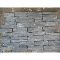 Wholesale Natural Stone Fieldstone Stone Veneer Black Slate P018 Irregular Culture Stone Veneer from china suppliers