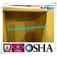 Wholesale Yellow Industrial Flammable Safety Cabinets For Oil / Chemical Liquid Storage from china suppliers