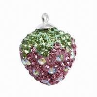 Wholesale Fashionable Pendant with Crystal Strawberry Charm from china suppliers