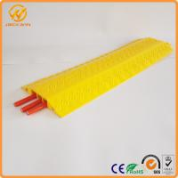 Quality Yellow One Meter PVC Light Duty Cable Protector Ramp Plastic 3 Channels 2.5kg for sale