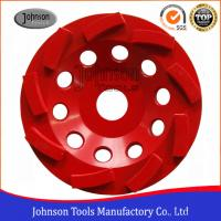 Wholesale Metal Bond 125mm Diamond Swirl Cup Wheel 9 Nos Teeth For Stone / Concrete from china suppliers