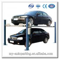 Wholesale On Sale! 4 Post Car Lifts Basement Car Stack Parking System 2 Level Parking Lift from china suppliers