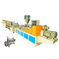 Wholesale PVC Single Layer Plastic Roofing Tiles Extrusion Line , Single Screw Tile Making Machine from china suppliers