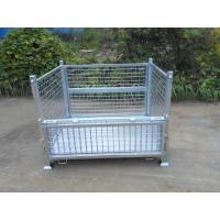 Wholesale high strength stackable steel mesh container, storage mesh cage from china suppliers