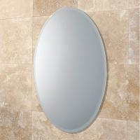Wholesale Bevelled Edge 4mm Oval Large Round Mirrors Round For Bedroom , ISO9001 from china suppliers