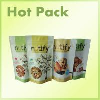 Wholesale Stand Up Snack Packaging Pouch Bags With Zipper Foil Lined , Wax Paper Sandwich Bags from china suppliers