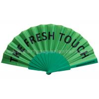 Buy cheap Simple Design Printed Fabric Hand Fan 8 Inch 9 Inch 12 Inch Customized from wholesalers