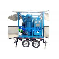 China Double Axle Mobile Type Transformer Oil Purifier ZYD - M - 100 6000LPH on sale