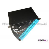 Wholesale 24 Port SC Fiber Patch Panel , Fiber Optic Termination Panel Rotating Out Drawer Type from china suppliers