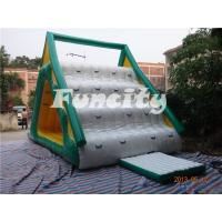 Wholesale Yellow and Green Size 7.6*4.6*4M Made of 0.9MM PVC Tarpaulin Inflatable Water Slide from china suppliers