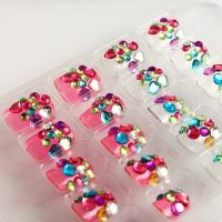 Wholesale Polka Dot Kids Fake Nails ABS 3D Beautiful For Kids Fingers from china suppliers