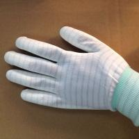 Wholesale stripped ESD anti static PU coated gloves for electronic factory use from china suppliers
