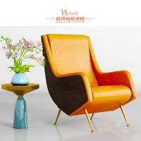 Wholesale Customized Luxury Living Room Furniture / Office Waiting Room Chairs With Golden Leg from china suppliers