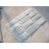 Wholesale Natural Stone Mushroom Wall Cladding Grey Slate Mushroom Stone Grey Slate Mushroomed Stone from china suppliers