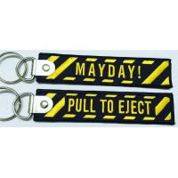 Buy cheap Pull To Eject Mayday! Fabric Embroidery Keychain Key Ring from wholesalers