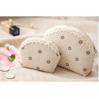 Wholesale Hop-selling Linen cosmetic bag Clear zipper cosmetic bag Make up bag toiletry bag from china suppliers