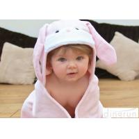 Wholesale 75*75cm Lightweight Baby Hooded Towels For Bath / Beach / Pool from china suppliers