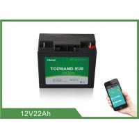 Buy cheap Deep Cycle Cell 12V 22Ah Lithium Phosphate Battery With Bluetooth Function from wholesalers