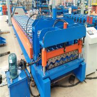 Buy cheap Experienced manufacturer supply custom color tile trapezoidal roll forming machine from wholesalers