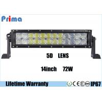 Wholesale Combo Beam 5D 72 Watt 14 Inch LED Car Light Bar For 4 X 4 Vehicles DC 9V - 32V from china suppliers