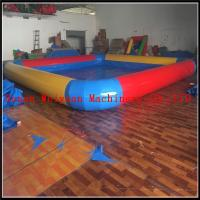 Wholesale PVC 0.9 yellow and red color inflatable swimming pool large inflatable pool for sale from china suppliers