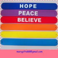 Wholesale manufacture custom silicone slap & snap rubber bracelets from china suppliers