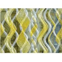 Quality Gold Waterline Decorative Glass Partition For Salon Decoration , Tempered for sale