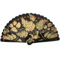 Wholesale Digital Printing Wooden Hand Held Fan , Elegant Outdoor Wedding Fan from china suppliers