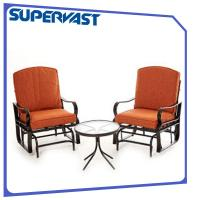 Wholesale 3PC Outdoor Garden Patio Bistro Set Steel Patio Deep Seating Rocking Chair Bistro Set from china suppliers