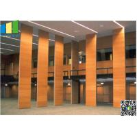 Quality Fabric Wooden Exhibition Partition Wall , Folding Operable Partition Walls for sale