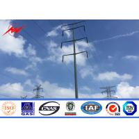 Wholesale Tubular / Lattice Galvanized Steel Pole For Power Transmission Line Project from china suppliers