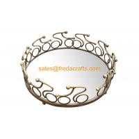 Wholesale China Factory Nice Mirror Tray With Metal  Decorated Frame in Various Size and Colors from china suppliers