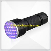 Wholesale Black/Blue Color Aluminum 395NM Blacklight 21 LED Ultraviolet Flashlight Lamp Torch from china suppliers