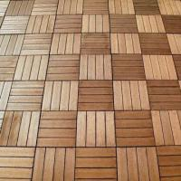 Quality 300 x 300mm WPC Decking Tile, Water/Moisture-proof, Suitable for Outdoor Use for sale