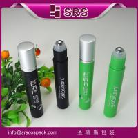 Wholesale SRS hot sale 8ml plastic roller bottle supplier with aluminum cap for anti-itch gel use from china suppliers